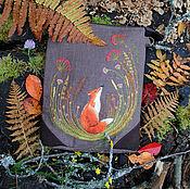"""Сумка через плечо ручной работы. Ярмарка Мастеров - ручная работа Льняная сумка через плечо """"Лисичкин сон"""". Handmade."""