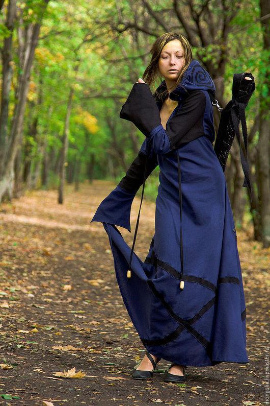 "Role-Playing handmade. Livemaster - handmade. Buy ""Druidess"" Elvish Dress.Dress, linen dress, floor length dress, cotton"