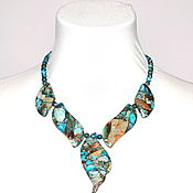 Украшения handmade. Livemaster - original item Necklace made of natural blue variscite. Handmade.