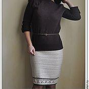 Одежда handmade. Livemaster - original item Knitted crochet winter warm skirts