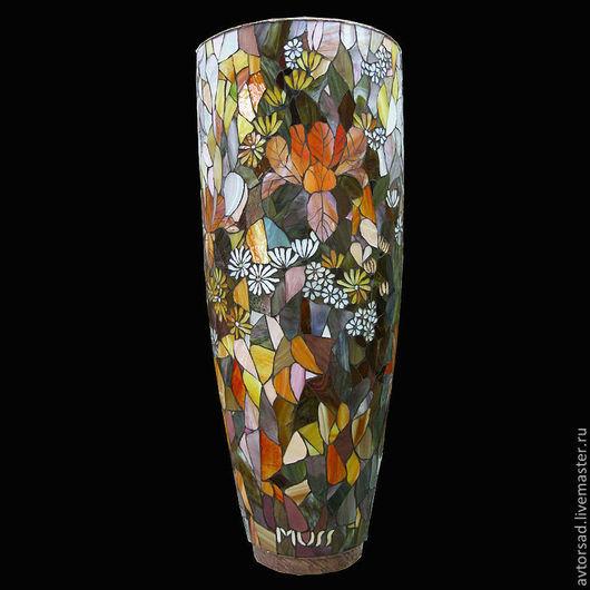 Мозаичная ваза `Хризантемы