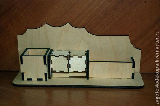 Настольный набор (продается в разобранном виде) Размер: 30х13х8 см Материал: фанера 6 мм