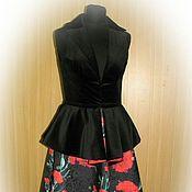 Одежда ручной работы. Ярмарка Мастеров - ручная работа Комплект - Бархатный жилет и юбка. Handmade.