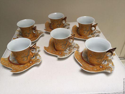 Винтажная посуда. Ярмарка Мастеров - ручная работа. Купить Кофейный набор Бавария. Handmade. Комбинированный, кофейные пары