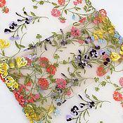 Материалы для творчества handmade. Livemaster - original item Embroidered braid, lace. In stock! Meadow flowers. Handmade.