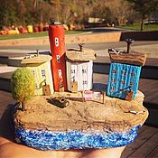 Для дома и интерьера handmade. Livemaster - original item Driftwood cottages Coastal village. Handmade.