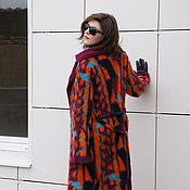 """Одежда ручной работы. Ярмарка Мастеров - ручная работа Пальто """"Геометрия-флора"""". Handmade."""