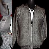 Мужская одежда handmade. Livemaster - original item Bound in linen.Chainmail hoodie with pockets in the seams. Handmade.