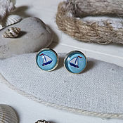 Украшения handmade. Livemaster - original item Silver plated earrings Ship. Handmade.