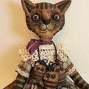"""Куклы и игрушки ручной работы. Ярмарка Мастеров - ручная работа Примитивная кукла. Кошка """"Рыбачка Сонечка""""). Handmade."""