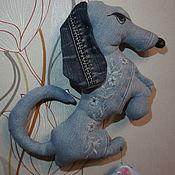 Мягкие игрушки ручной работы. Ярмарка Мастеров - ручная работа Мягкие игрушки: такса. Handmade.