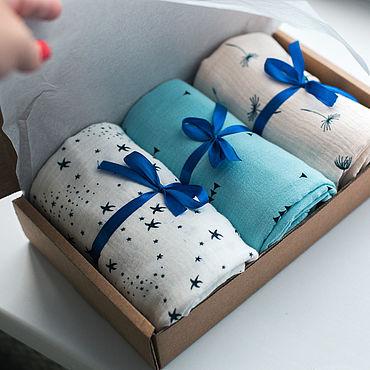 Товары для малышей ручной работы. Ярмарка Мастеров - ручная работа Муслиновые пеленки. Handmade.