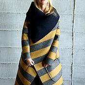 Одежда ручной работы. Ярмарка Мастеров - ручная работа Пальто СOZY STRIP. Handmade.