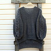 Одежда handmade. Livemaster - original item Sweater knitting with braids