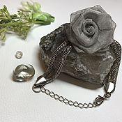 Винтажные браслеты ручной работы. Ярмарка Мастеров - ручная работа Металлический браслет с розочкой. Handmade.