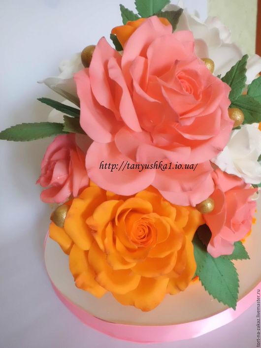 Праздничная атрибутика ручной работы. Ярмарка Мастеров - ручная работа. Купить Сахарная роза. Handmade. Роза ручной работы