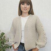 Одежда handmade. Livemaster - original item Cardigan women`s knitted bomber jacket women`s handmade. Handmade.