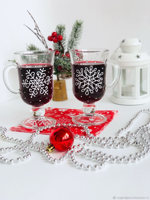 Бокалы для глинтвейна и других горячих напитков « Снежинки», Бокалы, Москва,  Фото №1