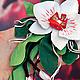 Броши ручной работы. Ярмарка Мастеров - ручная работа. Купить Брошь из кожи Белая орхидея малая. Handmade. Белый