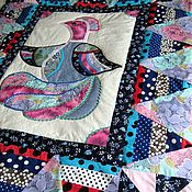 Для дома и интерьера ручной работы. Ярмарка Мастеров - ручная работа Лоскутное покрывало Чудо-Птица. Handmade.