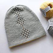 Аксессуары ручной работы. Ярмарка Мастеров - ручная работа Двойная шапка бини мериносовая шерсть. Handmade.