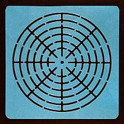 Материалы для творчества handmade. Livemaster - original item 002 Stencil for drawing mandalas. Handmade.
