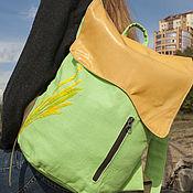 Сумки и аксессуары handmade. Livemaster - original item Linen rectangular backpack