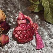 Украшения ручной работы. Ярмарка Мастеров - ручная работа Брошь pink parfume. Handmade.