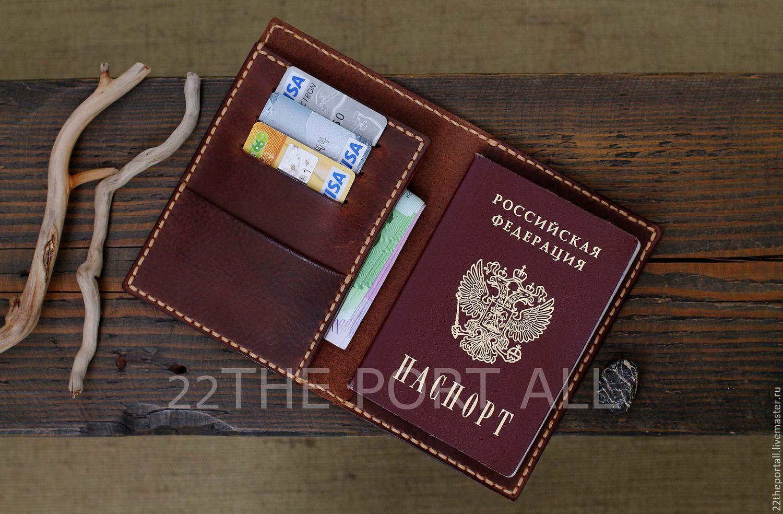 fdd29eefc78a Обложки ручной работы. Ярмарка Мастеров - ручная работа. Купить Обложка для  паспорта из кожи ...