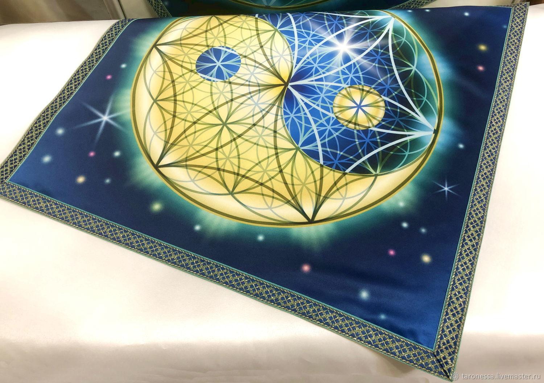 Table cloth for Tarot 50h50 cm, Yin Yang, Tarot cards, Noginsk,  Фото №1