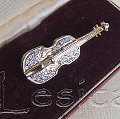 Винтаж handmade. Livemaster - original item Brooch Violin. Handmade.
