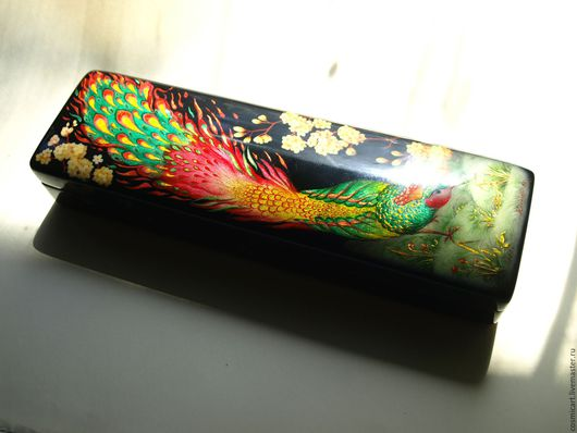 Персональные подарки ручной работы. Ярмарка Мастеров - ручная работа. Купить райская птица. Handmade. Лаковая миниатюра, комбинированный