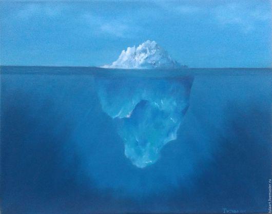 Пейзаж ручной работы. Ярмарка Мастеров - ручная работа. Купить Айсберг. Handmade. Синий, айсберг, белый, вода, подводный мир