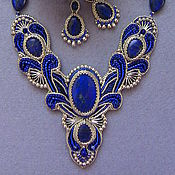 Украшения handmade. Livemaster - original item Set with lapis lazuli