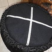Аксессуары handmade. Livemaster - original item The cap of black Astrakhan fur with a black top. Handmade.