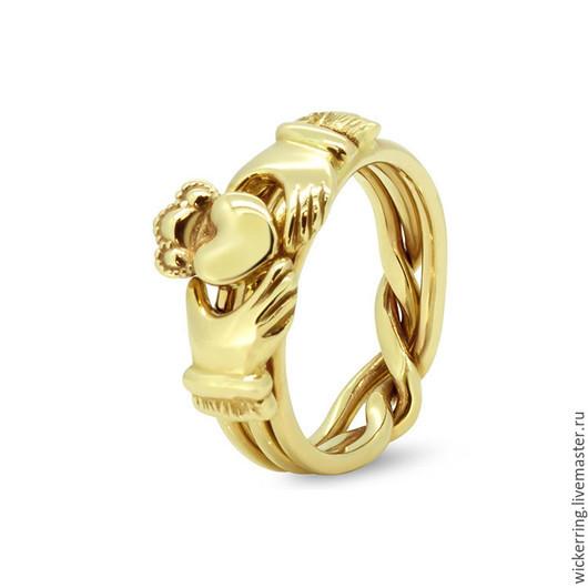 Золотые кольца головоломки от WickerRing