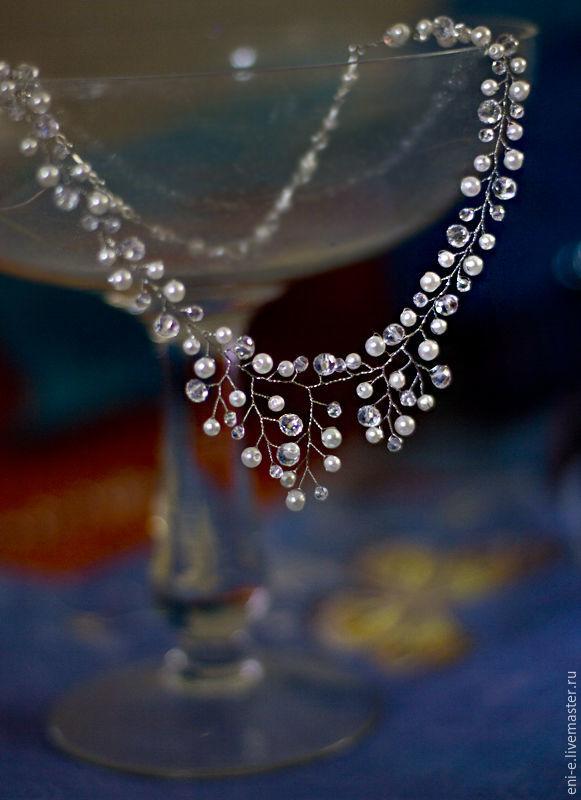 Колье свадебное айвори, Свадебные украшения, Москва, Фото №1