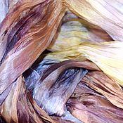 Аксессуары handmade. Livemaster - original item Scarf stole silk multicolor light pressed women`s scarf. Handmade.