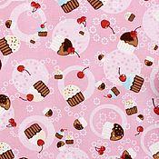 Материалы для творчества ручной работы. Ярмарка Мастеров - ручная работа Хлопок Tossed Cupcakes  США. Handmade.