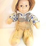 Винтажные куклы ручной работы. Ярмарка Мастеров - ручная работа Старинная небольшая фарфоровая кукла в шляпе. Handmade.