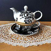 """Винтажные предметы интерьера ручной работы. Ярмарка Мастеров - ручная работа Чайный набор  на одного """"Вдохновение"""", Англия. Handmade."""
