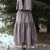 Одежда handmade. Livemaster - original item No. №195.1 Skirt boho winter double. Handmade.