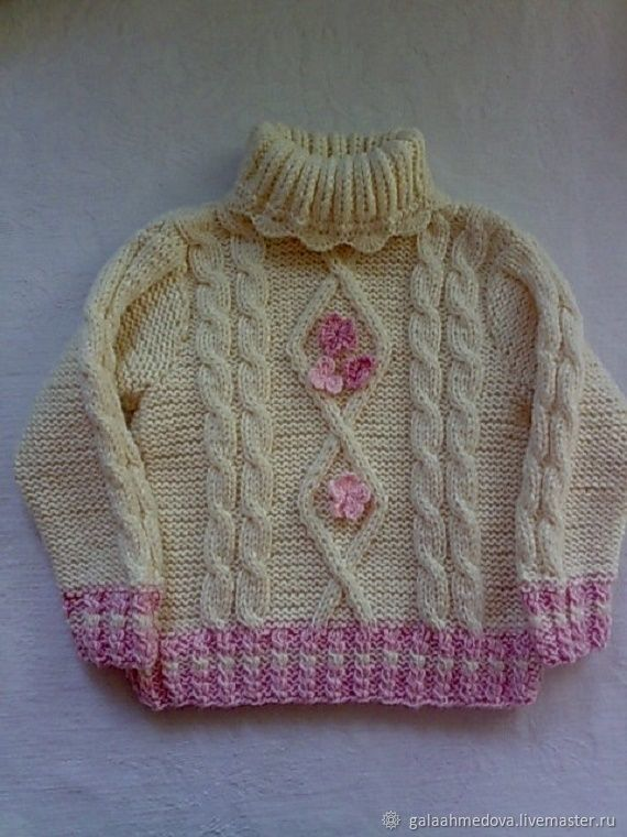 knitted sweater 'Love the warmth of' handmade, Jerseys, Dmitrov, Фото №1