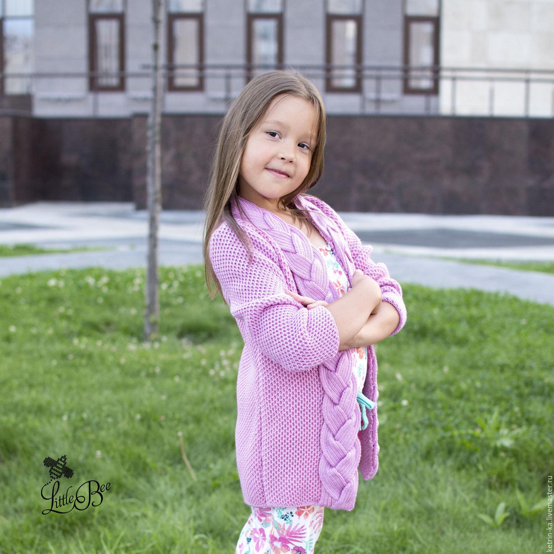 Вязаные детские кофты для девочек с доставкой
