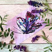 Открытки ручной работы. Ярмарка Мастеров - ручная работа Открытка с синими бабочками. Handmade.