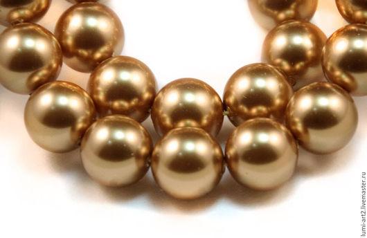 Для украшений ручной работы. Ярмарка Мастеров - ручная работа. Купить 12мм Bright Gold Жемчуг Сваровски 306 Swarovski Perl. Handmade.