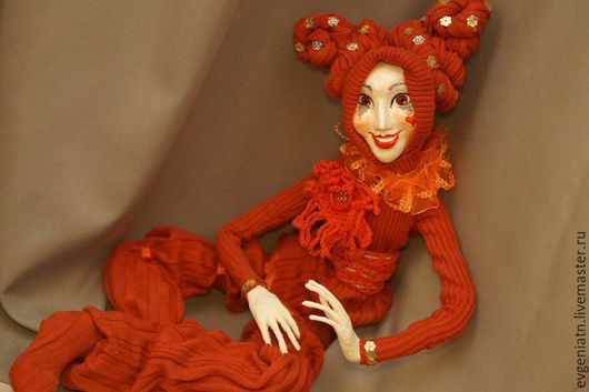 Коллекционные куклы ручной работы. Ярмарка Мастеров - ручная работа. Купить Арлекин (авторская кукла ручной работы). Handmade. Комбинированный