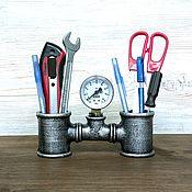 Карандашницы ручной работы. Ярмарка Мастеров - ручная работа Подставка для карандашей и ручек в стиле Лофт, Стимпанк, Индастриал. Handmade.