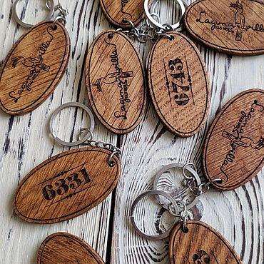 Дизайн и реклама ручной работы. Ярмарка Мастеров - ручная работа Деревянные номерки. Handmade.