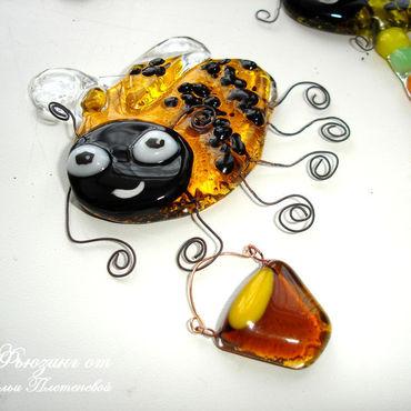 """Цветы и флористика ручной работы. Ярмарка Мастеров - ручная работа Декор """"Пчелка Майя"""" из стекла. Фьюзинг. Handmade."""